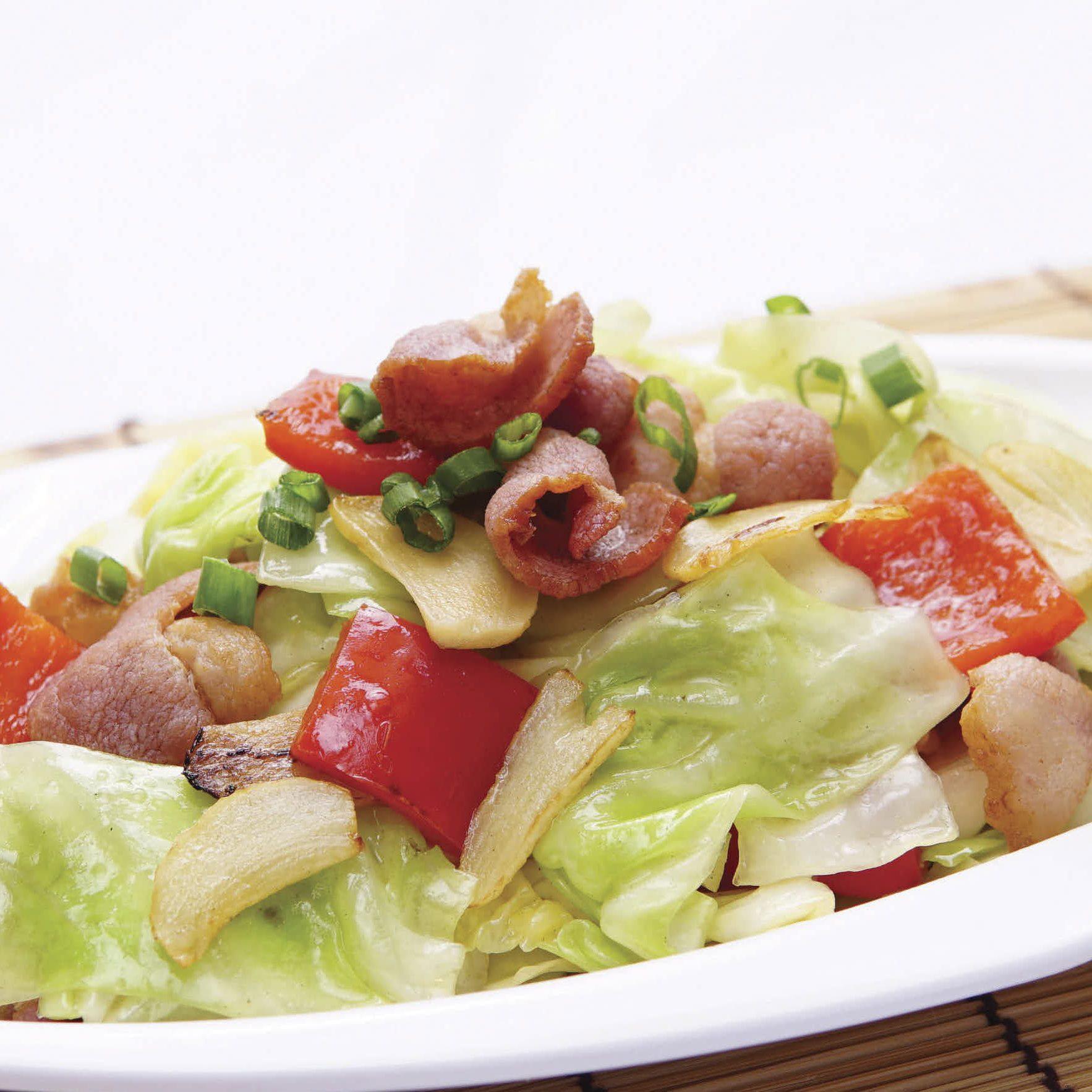 B19 Stir-fried Cabbage w Bacon