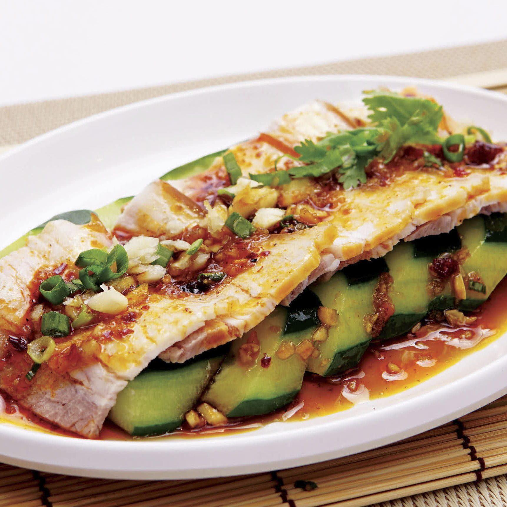B5 Spicy Sliced Pork Belly Salad